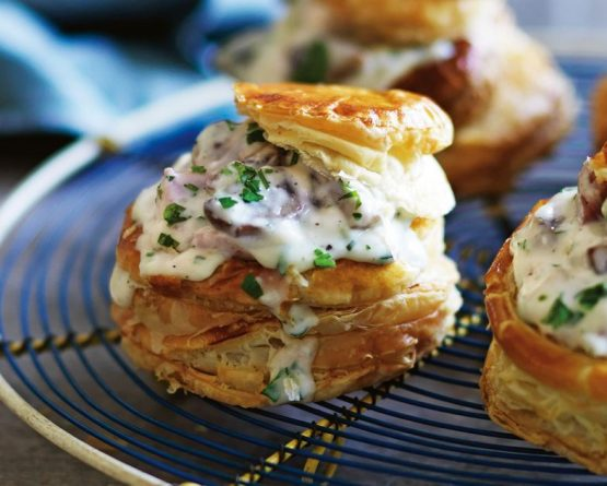 Puff pastry party canapés recipe